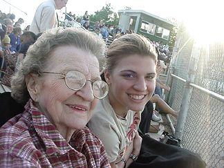 Natalie and Mom at one of Patricks baseball games in his senior year