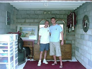 Mike and Chad after we moved Natalie into a storage locker for a few months.... She's finished at Texas State in San Marcos - Next stop UT San Antonio in July.