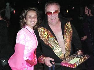 Chuck (Elvis) Utsman and daughter Jessica (Barbie)