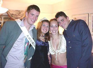 Chad and Natalie with Amanda and her boyfriend Matt