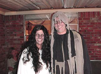 The ghost and ghoul.... Joanie and Roger