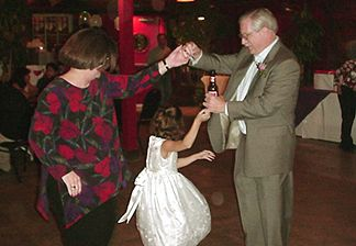 Rick and Donna dancing with Suzannah