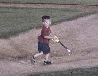 Chase man running the Bases.