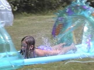 Megan on the Slip'n Slide