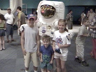 Robby Megan and Chase with the Astronaut