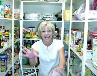 Eve in her pantry
