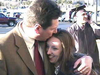 Kelly with her Dad - Joe Heisler