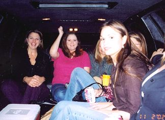 Joanie, Chandra, Nicole and the rest of the girls in the Limo heading for City Streets