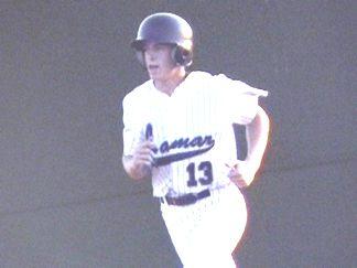 Blake Gerken between innings
