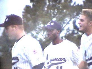 Kyle, Everett and Patrick between innings