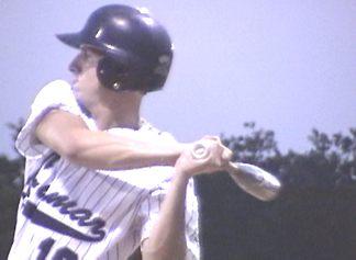 Garret Harris at bat