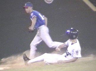 Ricky Watkins steals 2nd base