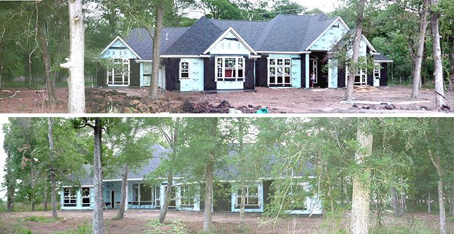 May 16th:  Panarama picture from fronit of house (Top) and back of house (Bottom)