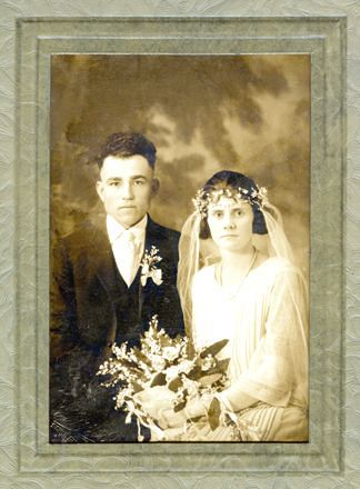 Joe Matocha's brother (Adolph) and his wife (Helen) at their wedding