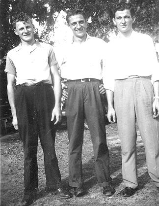 1946 - 3 of Mom's brothers - Charlie, JC and Beno