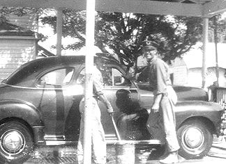 1948 - Joe Stryk... You can trust your car to the man who wears the star! (Joe's the man on the left, Rudy Dluhy on the right)