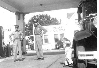 1948 - Left-Right. Joe Stryk, Rudy Dluhy, Michael Stryk, and a Classic Car!