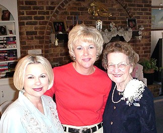 Mom with her Debbi and Eve - her two daughter-in-law's