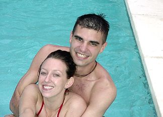 Shaun and Kelly in the Hot Tub