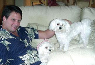 Roger chillin with Sugar and Bogey