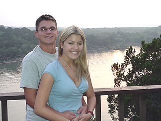 Patrick and Kayli overlooking Lake Travis