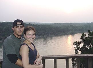 David and Nicole overlooking Lake Travis