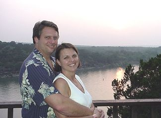 Roger and Joanie overlooking Lake Travis