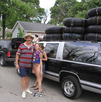 David (Joanie's cousin) and his daughter Kati after the river trip