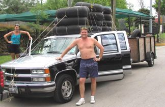 Joanie and Roger - the final river trip for this gallant steede... It doesn't look bad for a 10 year old truck w/ 300k miles!