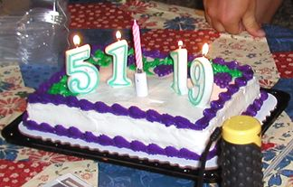 Birthday Celebrations back at the campsite..... Alice turned 51 on September 4th and Robin Turns19 on September 11th