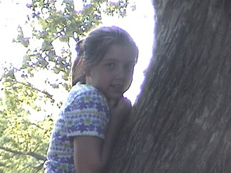 Sarah In a Tree at Spencers Campground in San Marcos