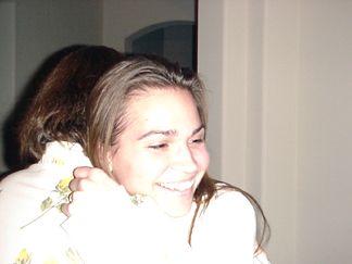 Nicole hugging Megan