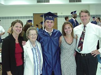 Joanie, Mom, Patrick, Nicole and Roger at the Baccalaureate