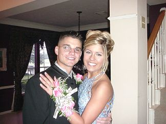Patrick and Kayli getting ready for the Prom