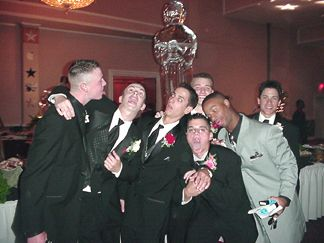 The Baseball team at the Prom