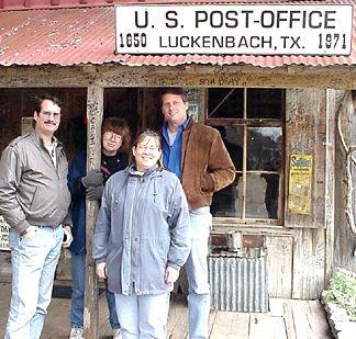 Hank, Alice, Sara and I at Luckenbach Tx.