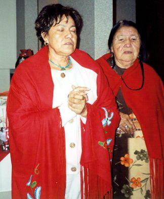 Preparing to perform the Blackfoot Wedding Ceremony