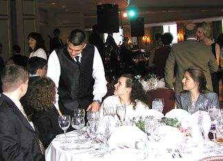 Patrick at the Grutlore table.... (Phillip, Clare, Diana and Shawn