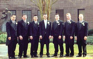 Shaun's Groomsmen... Dustin, Mark Heisler, Patrick, Shaun, Mark Hammond, Mark Sweeny and Josh.