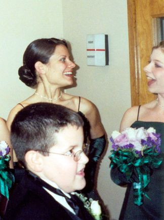 Jane (The Maid of Honor) with Melissa (And Ryan Mattingly in the foreground)
