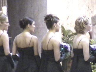 Bridesmaids: Cindy Heisler, Nicole and Natalie Griffin, Melissa Williams