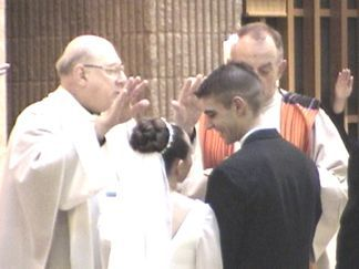 Shaun and Kelly receive the Blessing