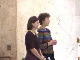 Joanie and Sr. Jane Meyer - Eucharistic Ministers