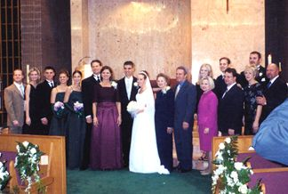 Shaun and Kelly with Shaun Family - Kevin and Leah (cousin), Patrick, Natalie, Nicole (sib's), Roger and Joanie, Wilma Stryk (Grandma), Uncle Mike, Susannah and Aaron (cousins), Aunt Debbi and Uncle Mark, Aunt Eve and Uncle Pat, Wade (cousin)