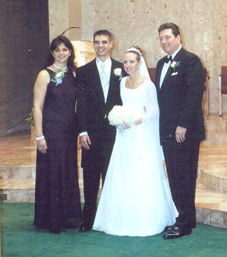 Shaun and Kelly with Kelly's family - Joe and Chantal Heisler