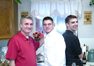 The Griffin Men doing the dishes