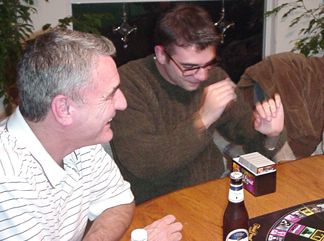 Mike and Shaun  -  playing trivial persute