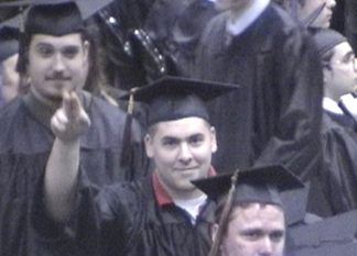 Joe heading up to get his diploma