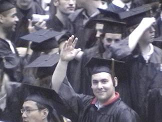 Joe - leaving the auditorium