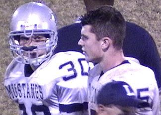 Brett Glasscock and Robbie Balena on the sidelines